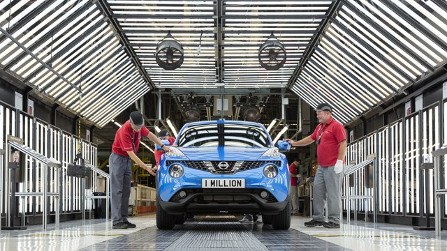 car making Juke built at Nissan Sunderland